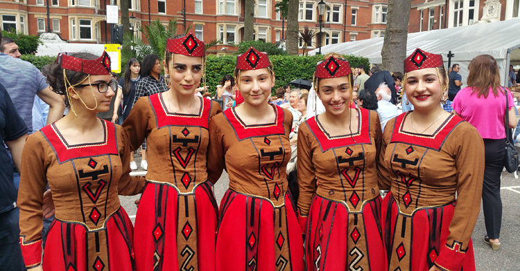 great food drinks music and dance at london armenian street festival