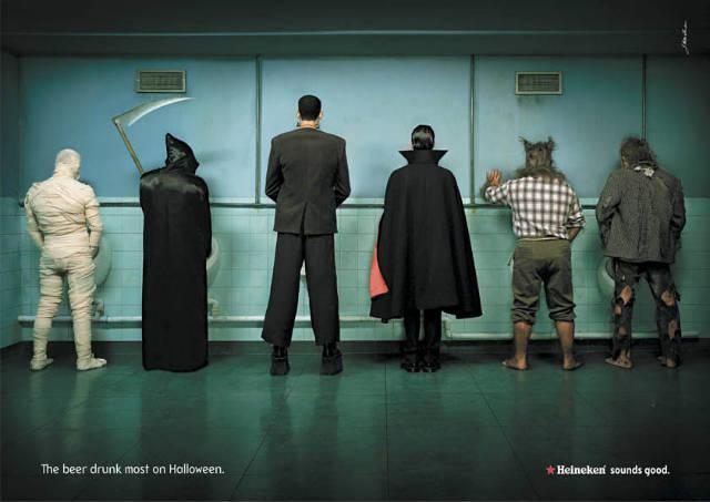 Heineken Halloween print advertisement