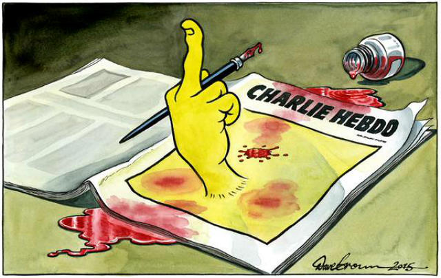 The world's cartoonists pay tribute to victims of Charlie Hebdo shootings in Paris
