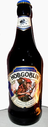 Hobgoblin beer bottle