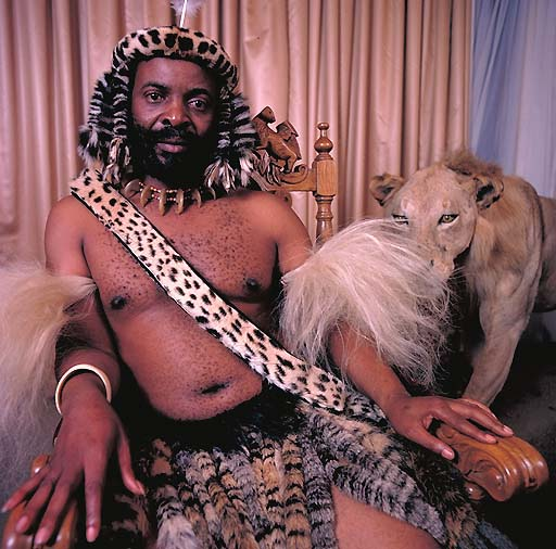 King Goodwill Zwelethini of Zulu, South Africa in Daniel Laine's book African Kings.