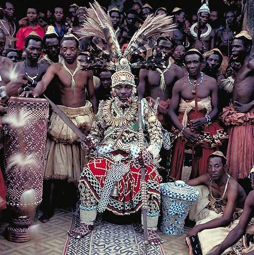 Nyimi Mabiintsh III, King of Kuba, D.R. Congo in Daniel Laine's book African Kings.