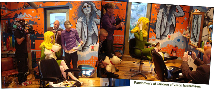Pandemonia visits Children of Vision hairdressers in Portobello