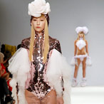 Pam Hogg, London Fashion Week, catwalk image
