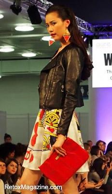 Pure London, WGSN catwalk featuring Viona Blu clutch