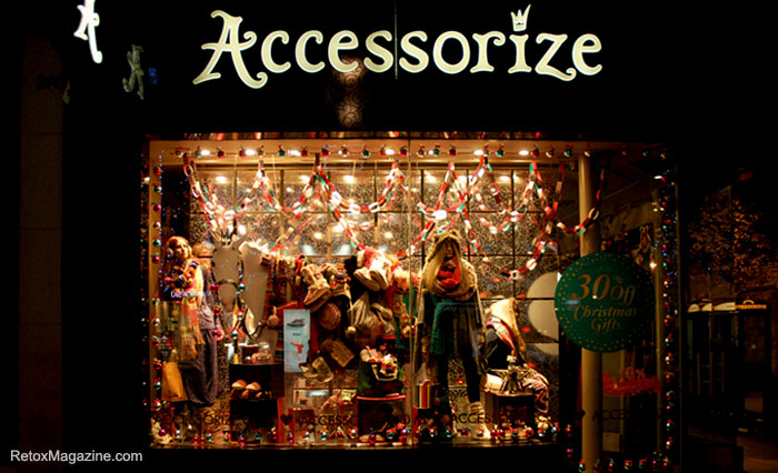 Accessorize Christmas window display