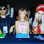 Eurocosplay 2011 Finals - Judges Jessica Campos as Pondy, Chloe Doan as Sushi Monster, Goldy