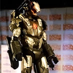 Eurocosplay Championships held at MCM Expo Comic Con in London – entry from Italy as Warmachine from Iron Man