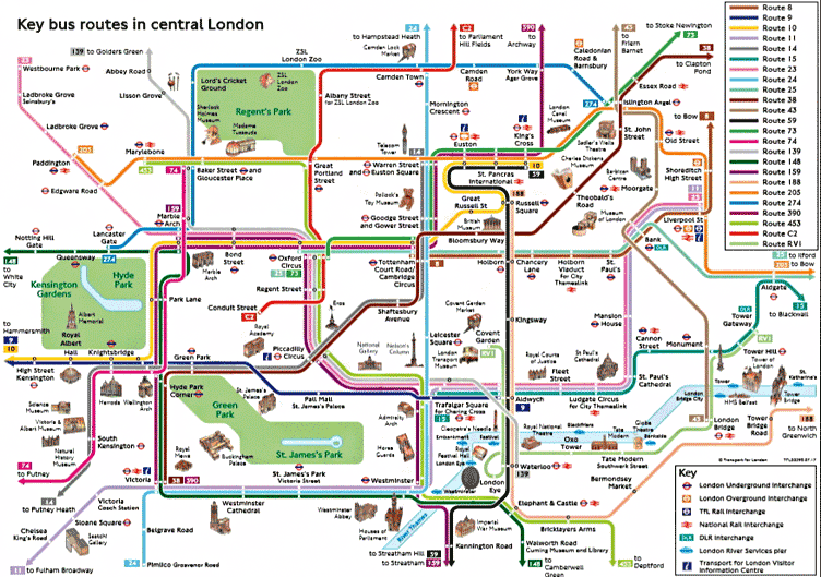 London Map With Sights.69 Amazing Things You Can Do In London For Free Or Under 5